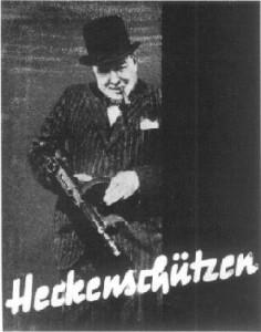 Churchill propaganda Murder poster