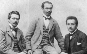 Albert Einstein with friends Habicht and Solovine,ca. 1903