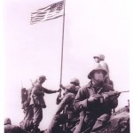First Iwo Jima Flag Raising