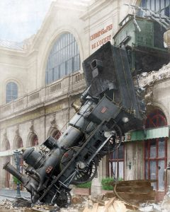 Montparnasse derailment that occurred on the 22nd October 1895 in Paris