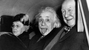 Mrs. Aydelotte, Albert Einstein, Dr. Frank Aydelotte on Einstein's 72nd birthday