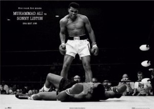 Muhammad Ali (Vs. Sonny Liston) Sports Poster Print