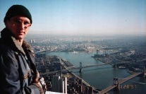 Péter Guzli on the WTC observation deck