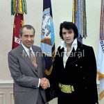 Richard M. Nixon and Elvis Presley at the White House - Dec 21 1970