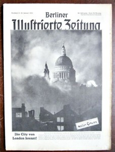 German magazine showing St Paul's Cathedral during the German bombing campaign called the Blitz