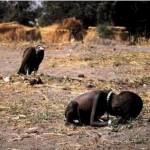 Starving Sudanese girl