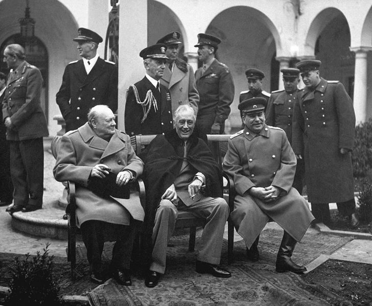 Yalta Conference with Churchill Roosevelt Stalin