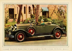 Actual Color Photograph of Chrysler 75 Roadster