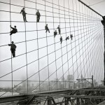 Painters on the Brooklyn Bridge