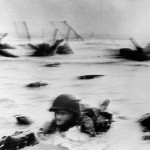 D-day soldier in the water