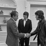 Nixon meeting Elvis's bodyguards