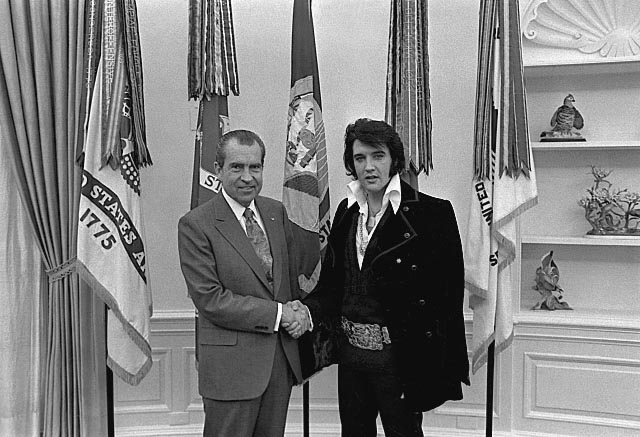 Elvis meeting Nixon
