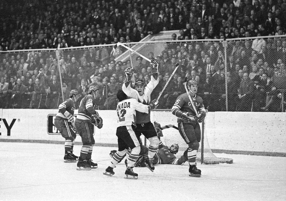 Paul Henderson's series-winning goal, Summit Series final game in Moscow, 1972